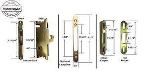 Patio Door Locks Replacement Sliding Patio Door Mortise Lock Keeper Kit For New Installation Or Replacement