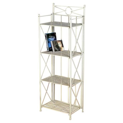 Folding Bakers Rack by 4 Tier Folding Bakers Rack In White 3523
