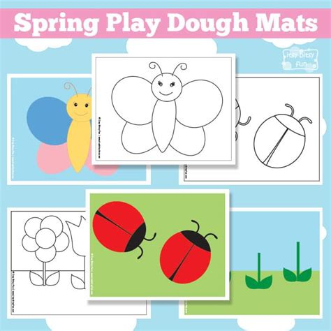 spring printable playdough mats spring play dough mats free printable itsy bitsy fun