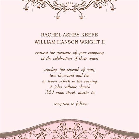wedding invitations templates free for word free wedding invitation announcement word
