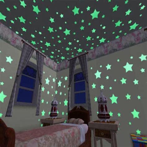 100 unids luminoso colorido hogar brillan en la oscuridad