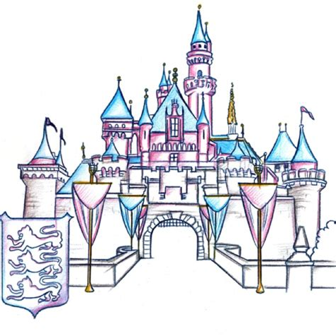 castles disney castles and coloring pages on pinterest drawn castle cinderella castle pencil and in color drawn