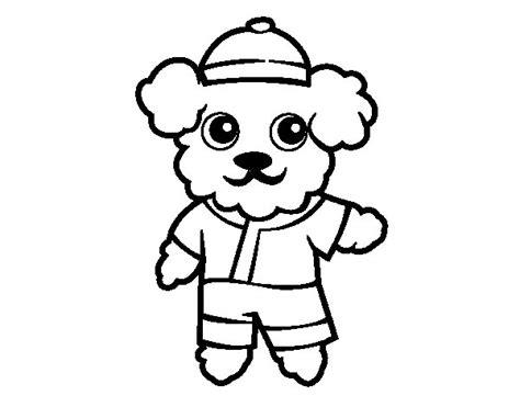 dibujos de perros para colorear dibujosnet dibujo de perro marinero para colorear dibujos net