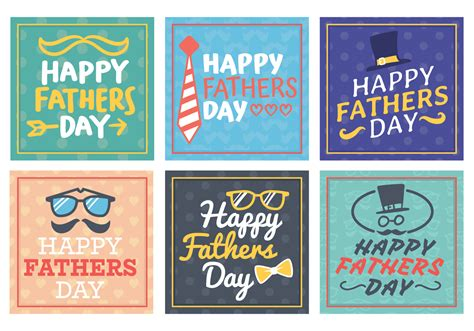 Happy Fathers Day Card Template by Happy Fathers Day Greetings Card Free Vector