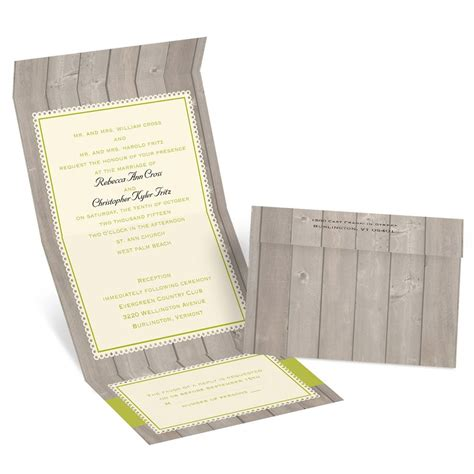 rustic send and seal wedding invitations rustic fence seal and send invitation invitations by