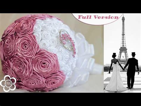 Wedding Bouquet Kanzashi Tutorial by Wedding Bouquet Kanzashi Tutorial свадьба свадебные