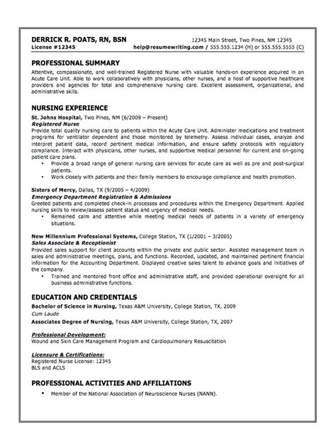 Rn Resume Skills Exles Cna Resume Sles Best Business Template
