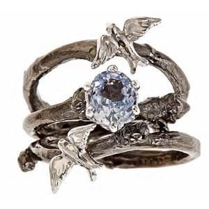 bird wedding ring bespoke branch engagement wedding by