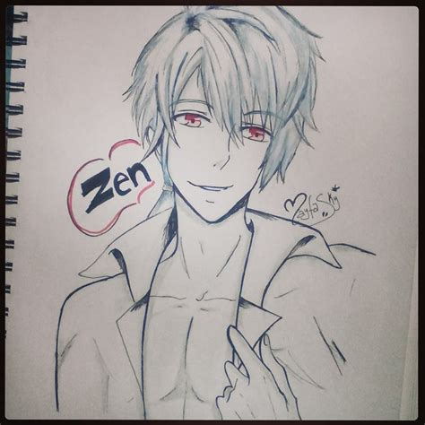 doodle draw fb messenger zen mystic messenger fanart by fa kute on deviantart