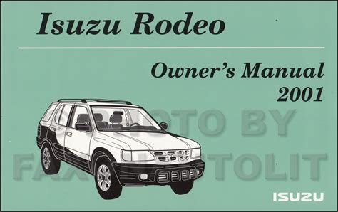 hayes auto repair manual 2001 isuzu rodeo sport windshield wipe control 2001 isuzu rodeo owner s manual original