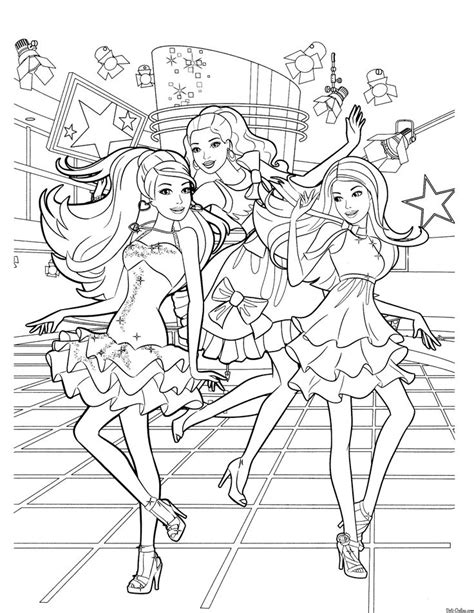 barbie birthday coloring page 375 best v 228 rityskuvat barbie images on pinterest barbie