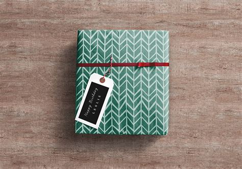 gift wrapped boxes gift wrap box psd mockup graphicsfuel