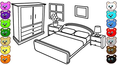 mom  dads bedroom coloring pages  children youtube