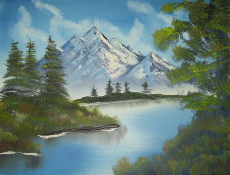 bob ross painting mountains think like a tree august 2010