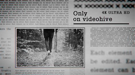 Newspaper Slideshow 4k After Effects Template Videohive 19530151 Ae Templates Videohive Newspaper After Effects Template