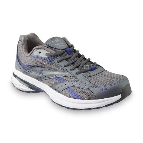 ryka radiant walking shoes ryka s radiant plus gray purple walking shoe wide