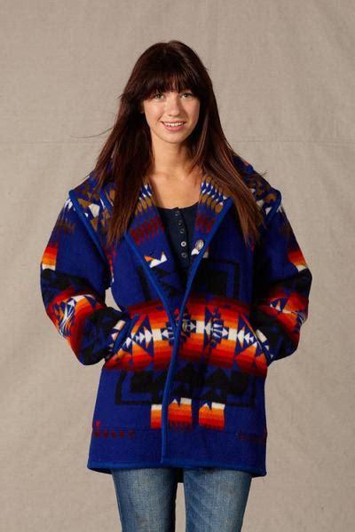 indian pattern hoodies reversible car coat chief joseph sapphire kraffs clothing
