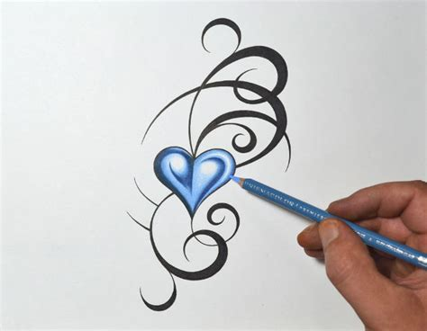 heartbeat trace tattoo 20 heart drawings art ideas design trends premium