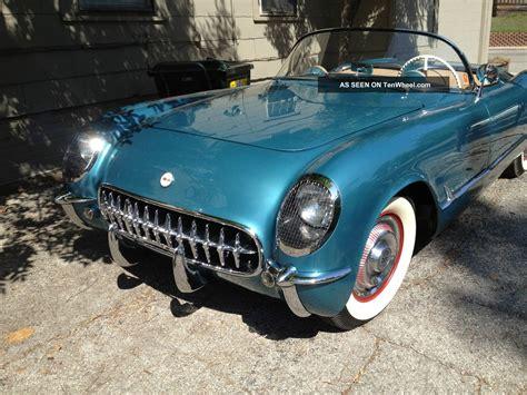 vintage corvette blue 1954 classic corvette pennant blue