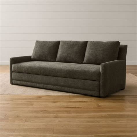 sofa with trundle reston trundle sofa crate and barrel