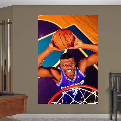 charlotte hornets mural larry johnson mural fathead wall decal