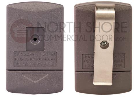 Hormann Garage Door Openers Hormann Hsm4 315 Garage Door Opener Mini Transmitter Remote