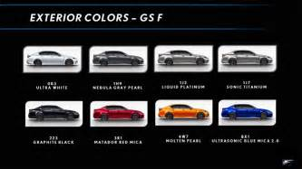 Lexus Color Lexus Gs F Color Chart