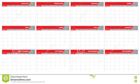year 2017 table calendar vector design template vector