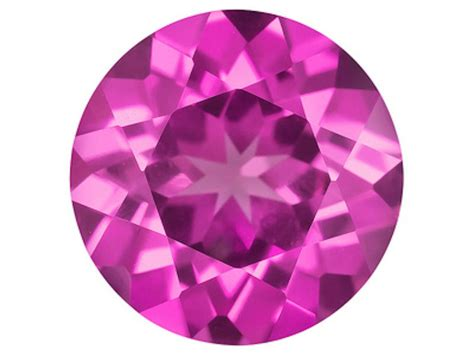 Pink Sapphire Safir synthetic lab created pink sapphire aaa corundum 3mm 10mm ebay