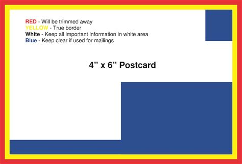 cards 4 x 6 template postcard template american printing and mail