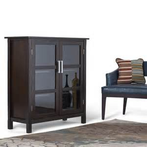 kitchener home furniture simpli home kitchener walnut brown storage cabinet