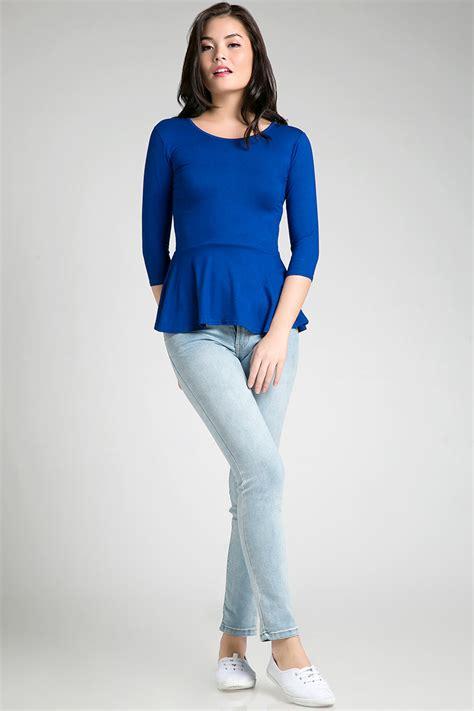 Blouse Blus Atasan Pakaian Wanita White Basic Icon Embedded L 3447 sell spandex peplum top blouse berrybenka