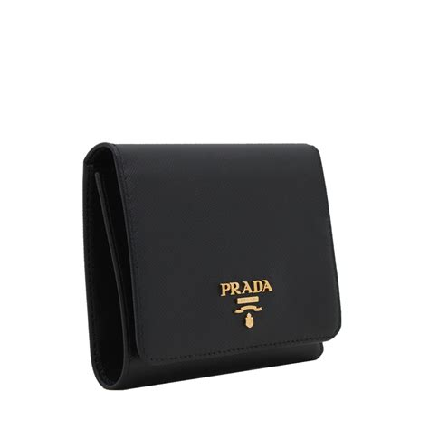 9 Top Prada Wallets by Prada 1mh176 Saffiano Leather Trifold Clasp Wallet