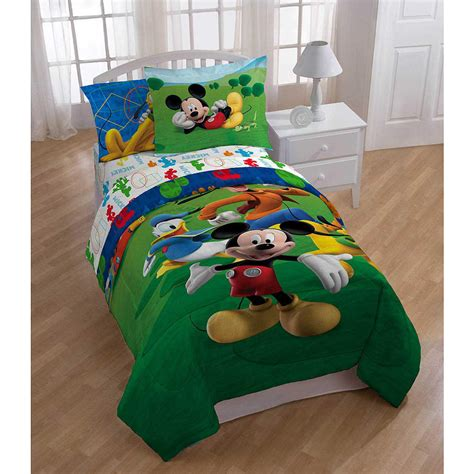 mickey bedding kids boys mickey mouse comforter set bed in a bag 2 prints ebay