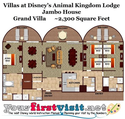 animal kingdom grand villa floor plan disney boardwalk 3 bedroom grand villa myminimalist co