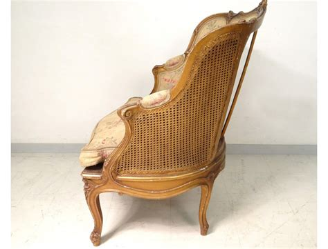 carved armchair berg 232 re louis xv armchair carved gilded cane napoleon iii