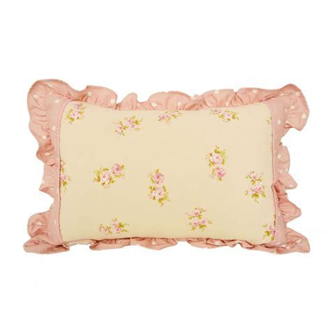 federa cuscino federa cuscino fiori e pois con balza tina codazzo home
