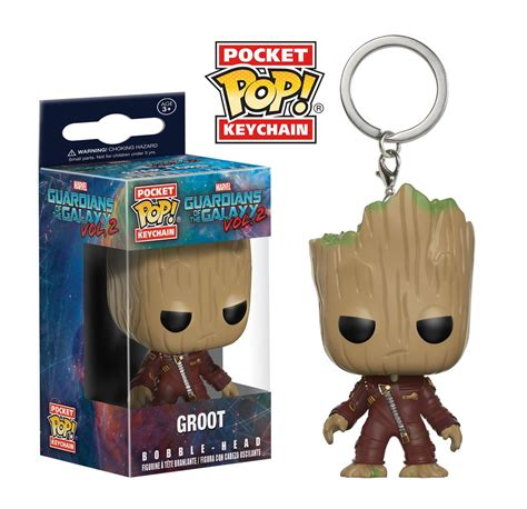 Keychain Groot 3 pocket pop keychain guardians of the galaxy vol 2