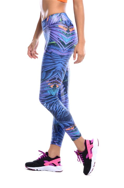 blue patterned workout optimus colorful workout leggings blue snatch my waist