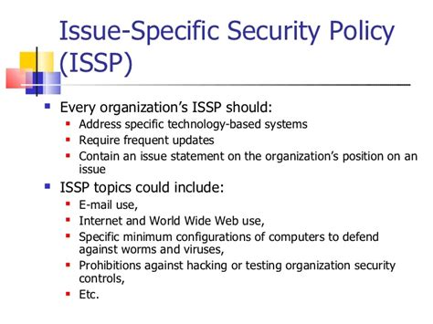 information security policy 2011