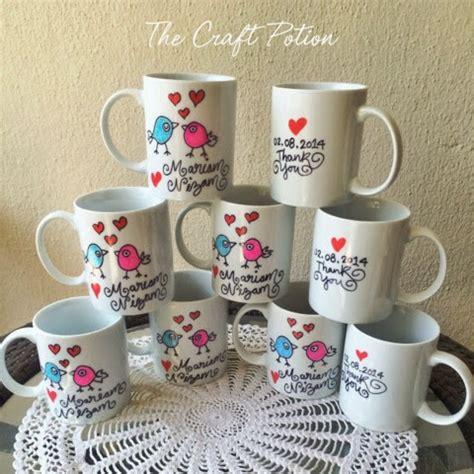 design mug kahwin the craft potion doorgift kahwin wedding favors