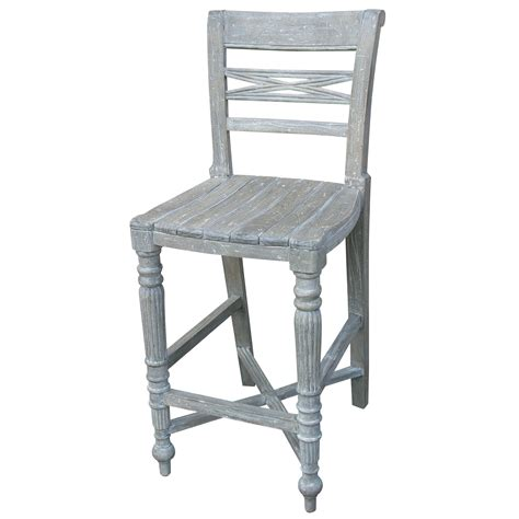 Painted Counter Stools by Painted Raffles Wooden Seat Counter Stool