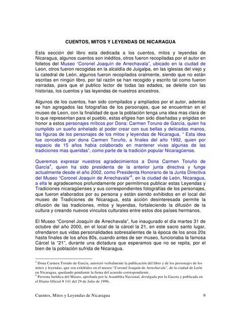 leyendas historias cuentos mitos y leyendas de nicaragua tomo ii 201208