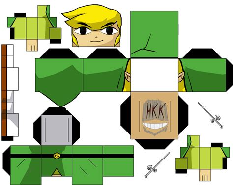 Papercraft Link - link the wind waker by hollowkingking on deviantart