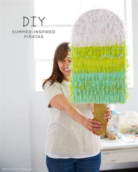 piñata diy make your own summer pi 241 ata popsicles summer and creative
