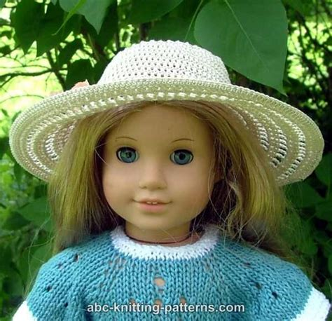 free knitting patterns for dolls hats abc knitting patterns american doll summer hat