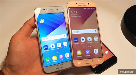 Samsung A3 A4 A5 ces 2017 prise en des samsung galaxy a5 et galaxy a3