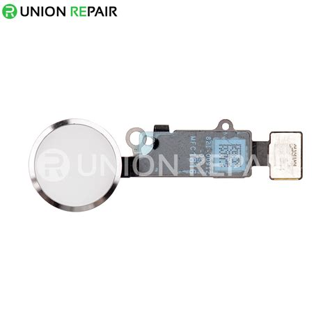 replacement  iphone   home button assembly silver