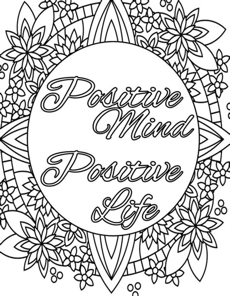 inspirational coloring pages printable inspirational quote coloring page to print and color adult