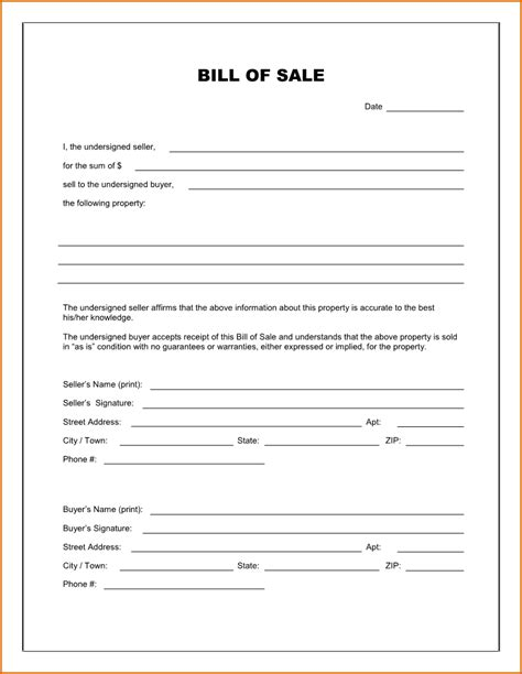 print blank vehicle bill of sale printable payment receipt scope of coding auditor sle